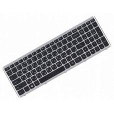Клавиатура для ноутбука Lenovo IdeaPad U510, Z710 RU, Black, Silver Frame, Backlight (25-211273)