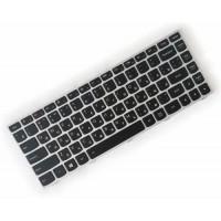 Клавиатура для ноутбука Lenovo IdeaPad G40-30, G40-45, G40-70, Z40-70, Z40-75, Flex 2-14 RU, Black, Silver Frame (25-214521)
