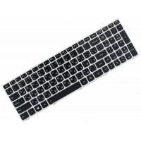 Клавиатура для ноутбука Lenovo IdeaPad G50-30, G50-70, G50-80, B50, Z50 RU, Black, Silver Frame, Backlight (25214736)