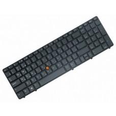 Клавиатура для ноутбука HP EliteBook 8560W Black, With point stick (703149-251)