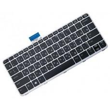Клавиатура для ноутбука HP EliteBook 1030 G1 RU, Black, Silver Frame, Backlight (752962-001)