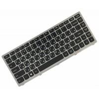 Клавиатура для ноутбука Lenovo IdeaPad Z400 RU, Silver Frame, Black (9Z.N7GBC.U0R)