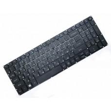 Клавиатура для ноутбука Acer Aspire E5-522, E5-573 RU, Black, Without Frame, Backlight, PWR (NK.I1517.007)