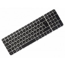 Клавиатура для ноутбука HP Pavilion M6-1000 RU,  Black, Silver Frame (PK130U92B06)