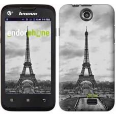 Чехол для Lenovo A300 Чёрно-белая Эйфелева башня 842u-229
