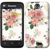 Чехол для Lenovo A300 цветочные обои v1 2293u-229