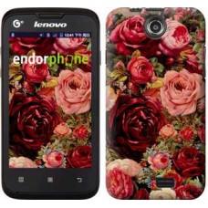 Чехол для Lenovo A300 Цветущие розы 2701u-229