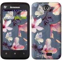 Чехол для Lenovo A300 Нарисованные цветы 2714u-229