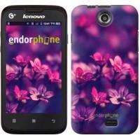 Чехол для Lenovo A300 Пурпурные цветы 2719u-229