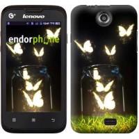 Чехол для Lenovo A300 Светящиеся бабочки 2983u-229