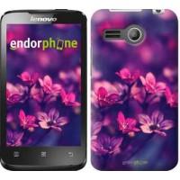 Чехол для Lenovo A316 Пурпурные цветы 2719u-199