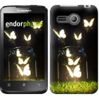 Чехол для Lenovo A316 Светящиеся бабочки 2983u-199