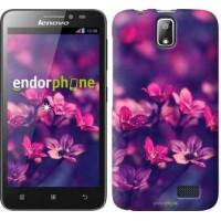 Чехол для Lenovo A328 Пурпурные цветы 2719u-230