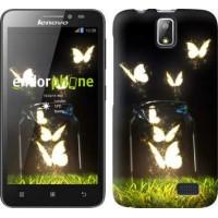Чехол для Lenovo A328 Светящиеся бабочки 2983u-230
