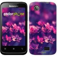 Чехол для Lenovo A369i Пурпурные цветы 2719u-291
