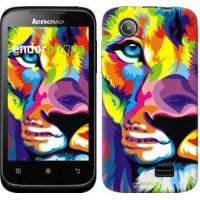 Чехол для Lenovo A398t Разноцветный лев 2713u-436