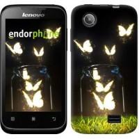 Чехол для Lenovo A369i Светящиеся бабочки 2983u-291