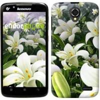 Чехол для Lenovo A388t Белые лилии 2686u-285