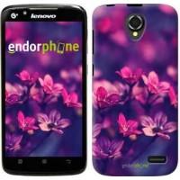 Чехол для Lenovo A388t Пурпурные цветы 2719u-285