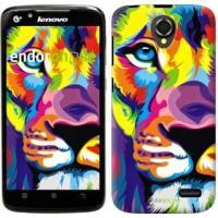 Чехол для Lenovo A388t Разноцветный лев 2713u-285