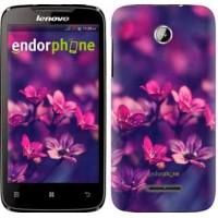 Чехол для Lenovo A390 Пурпурные цветы 2719u-948