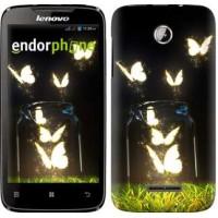 Чехол для Lenovo A390 Светящиеся бабочки 2983u-948
