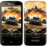 Чехол для Lenovo A390 World of tanks v1 834u-948
