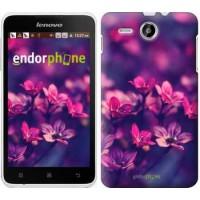 Чехол для Lenovo A529 Пурпурные цветы 2719u-200