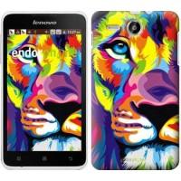 Чехол для Lenovo A529 Разноцветный лев 2713u-200
