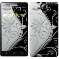 Чехол для Lenovo A536 Цветы на чёрно-белом фоне 840m-149