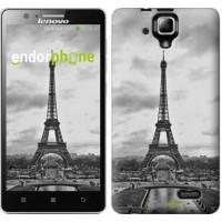 Чехол для Lenovo A536 Чёрно-белая Эйфелева башня 842m-149