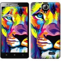 Чехол для Lenovo A536 Разноцветный лев 2713m-149