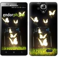 Чехол для Lenovo A536 Светящиеся бабочки 2983m-149