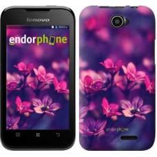 Чехол для Lenovo A66 Пурпурные цветы 2719u-290