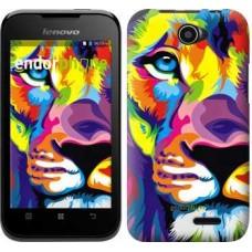 Чехол для Lenovo A66 Разноцветный лев 2713u-290