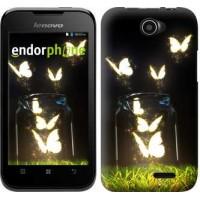 Чехол для Lenovo A66 Светящиеся бабочки 2983u-290