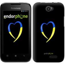Чехол для Lenovo A66 Жёлто-голубое сердце 885u-290