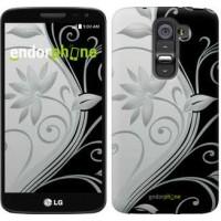 Чехол для LG G2 mini D618 Цветы на чёрно-белом фоне 840u-304