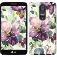 Чехол для LG G2 mini D618 Цветы акварелью 2237u-304