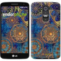 Чехол для LG G2 mini D618 Золотой узор 678u-304