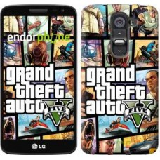 Чехол для LG G2 mini D618 GTA 5. Collage 630u-304