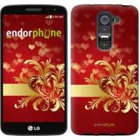 Чехол для LG G2 mini D618 Ажурные сердца 734u-304