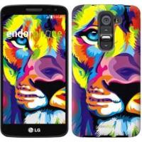 Чехол для LG G2 mini D618 Разноцветный лев 2713u-304