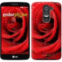 Чехол для LG G2 mini D618 Красная роза 529u-304