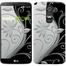 Чехол для LG G2 Цветы на чёрно-белом фоне 840u-37