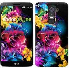 Чехол для LG G2 Абстрактные цветы 511u-37
