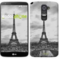 Чехол для LG G2 Чёрно-белая Эйфелева башня 842u-37