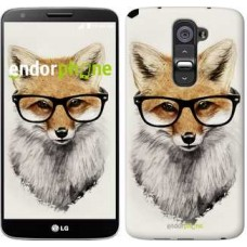 Чехол для LG G2 Лис в очках 2707u-37