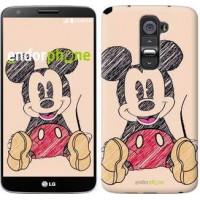 Чехол для LG G2 Нарисованный Мики Маус 2731u-37
