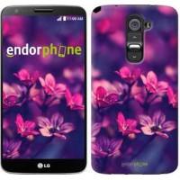 Чехол для LG G2 Пурпурные цветы 2719u-37